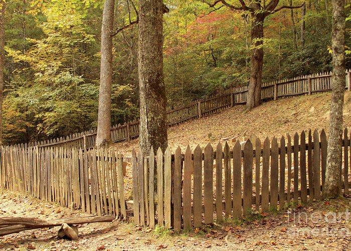 Graveyard Greeting Card featuring the photograph Mountain Graveyard by Debbie Burkhalter