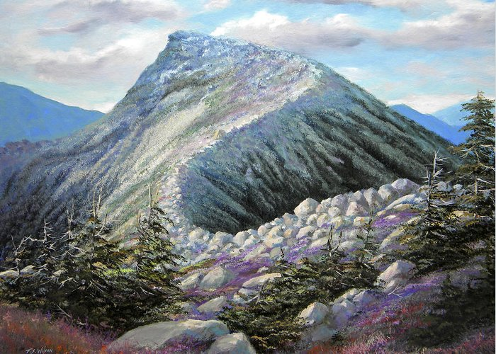 Landscape Greeting Card featuring the painting Mountain Ridge by Frank Wilson