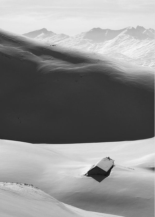 Alps Greeting Card featuring the photograph Mountain Shadow In The French Alps by Pierre Leclerc Photography