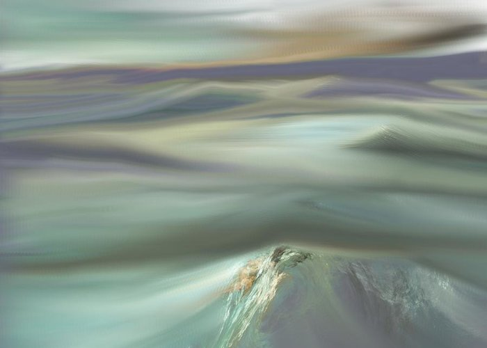 Fine Art Greeting Card featuring the digital art Mountain View by David Lane