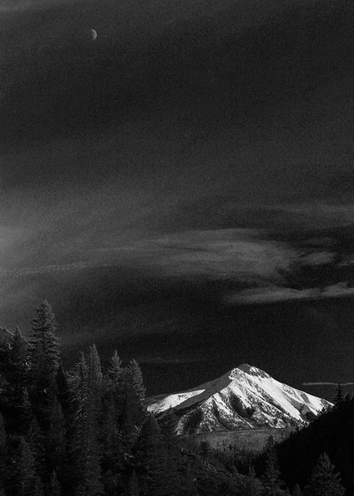 Mountain Greeting Card featuring the photograph Mountains And Moons by Samantha Burrow