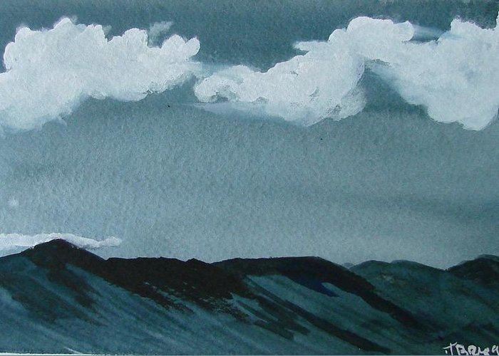 Moutains Greeting Card featuring the print Mountains by Dottie Briggs
