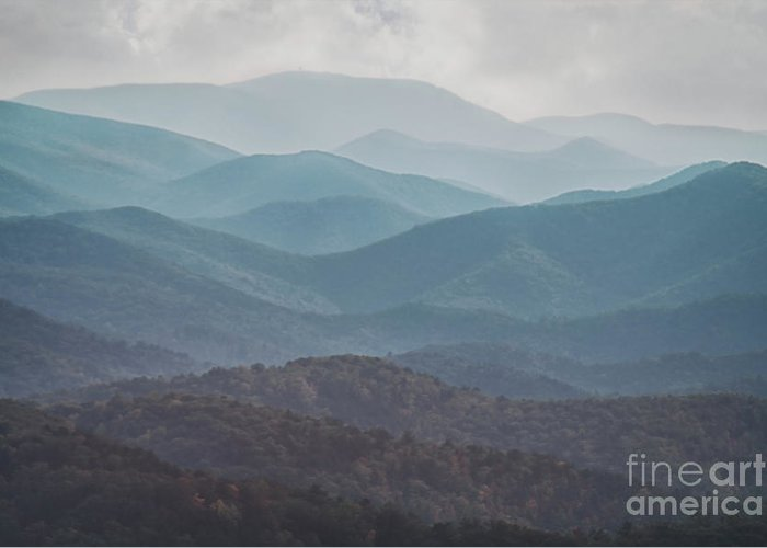 Abstract Greeting Card featuring the photograph Mountains On Blue Ridge Parkway by Tom Gari Gallery-Three-Photography