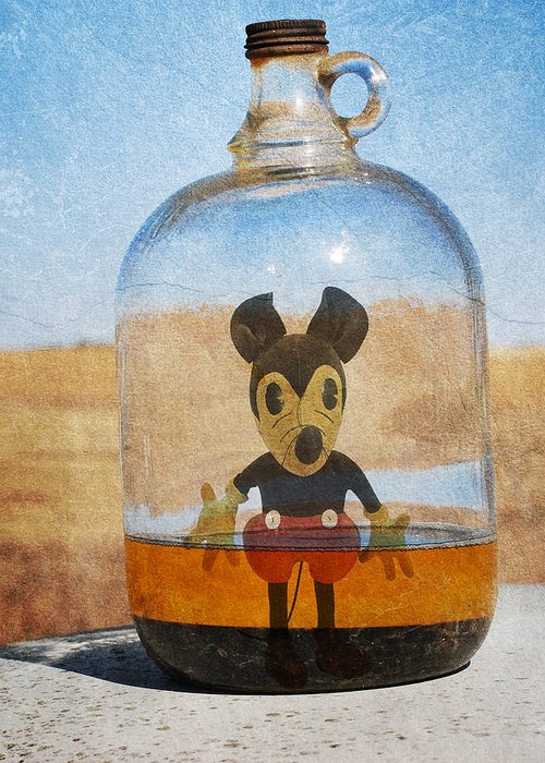 Jerry Cordeiro Framed Prints Framed Prints Greeting Card featuring the photograph Mouse In A Bottle by Jerry Cordeiro