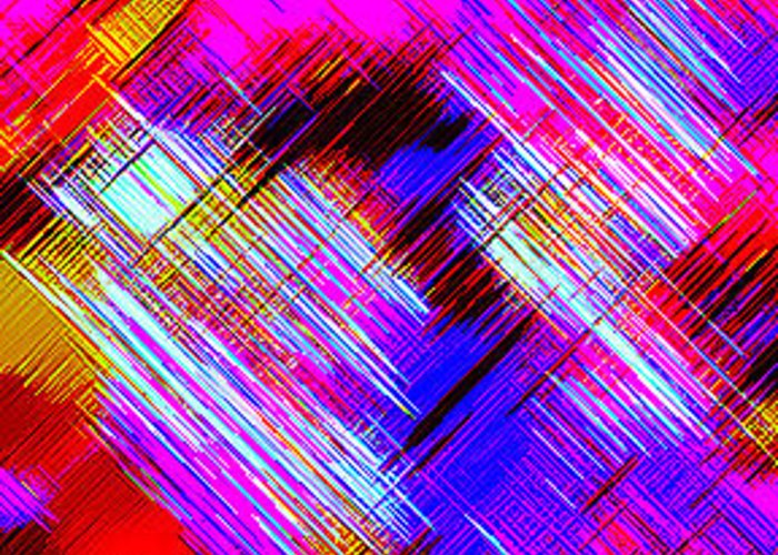 Moveonart! Digital Gallery Greeting Card featuring the digital art Moveonart Colorful Fast Paced Evening by Jacob Kanduch