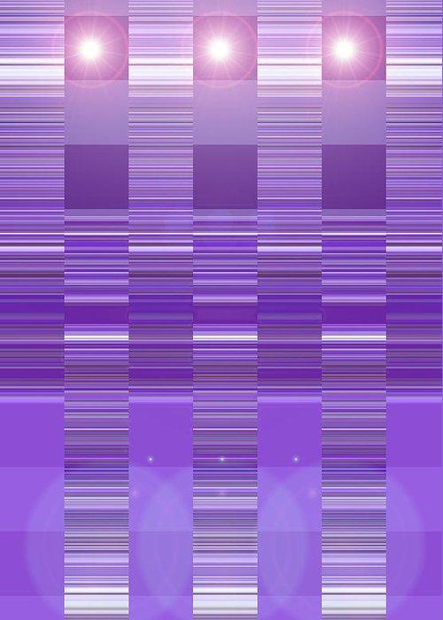 Moveonart! Digital Gallery Greeting Card featuring the digital art Moveonart Violet Program Two by Jacob Kanduch