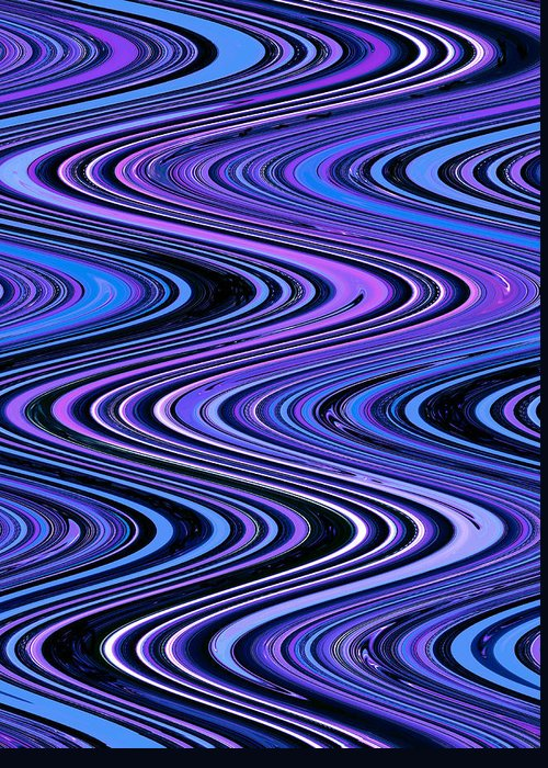 Moveonart! Digital Gallery Greeting Card featuring the digital art Moveonart Waves In Peaceful Movement by Jacob Kanduch