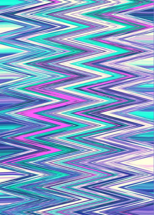 Moveonart! Digital Gallery Greeting Card featuring the digital art Moveonart Zig Zag Therapy One by Jacob Kanduch