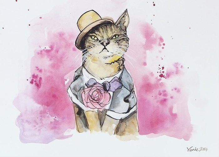 Tuxedo Cat Greeting Cards