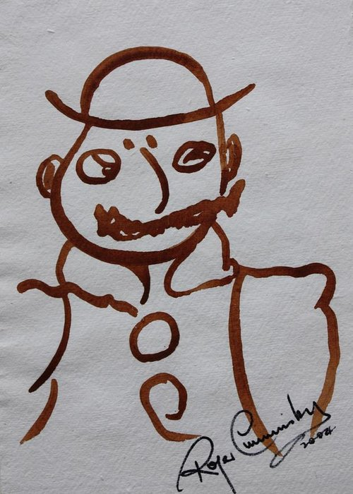 James Joyce Ulysses Greeting Card featuring the painting Mr Leopold Bloom by Roger Cummiskey