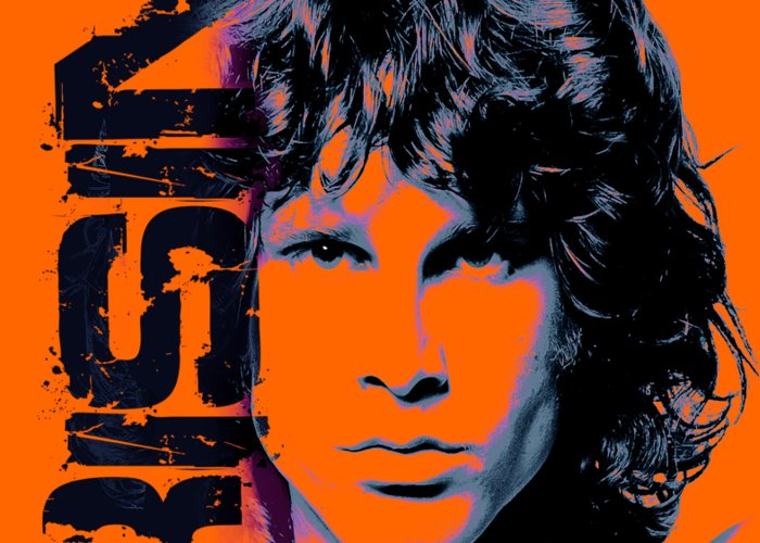 The Doors Greeting Card featuring the digital art Mr Mojo Risin by Mal Bray