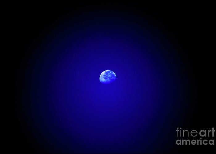 Moon Greeting Card featuring the photograph Mr Moon by Lori Tambakis