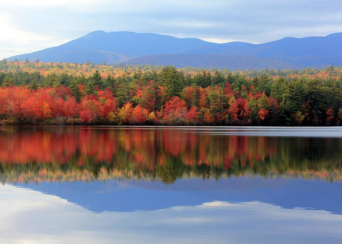 Landscape Greeting Card featuring the photograph Mt. Chocorua Reflections I by Lynne Guimond Sabean