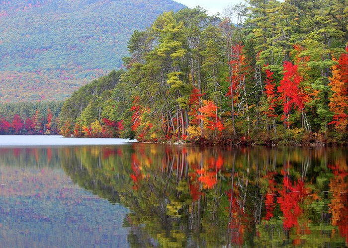 Landscape Greeting Card featuring the photograph Mt. Chocorua Reflections II by Lynne Guimond Sabean