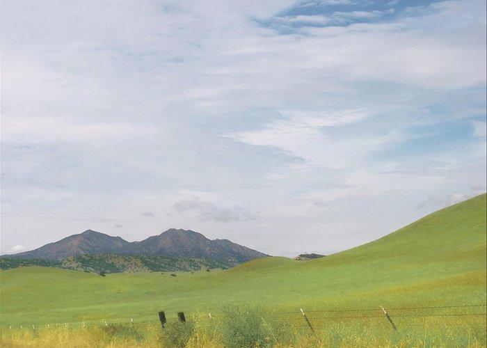 Landscape Greeting Card featuring the photograph Mt. Diablo Mcr 1 by Karen W Meyer