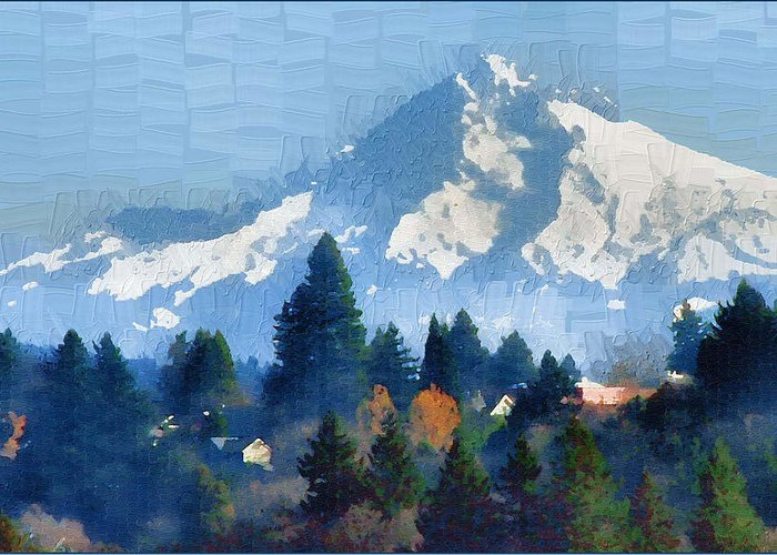 Mt. Hood Greeting Card featuring the photograph Mt. Hood by Margaret Hood