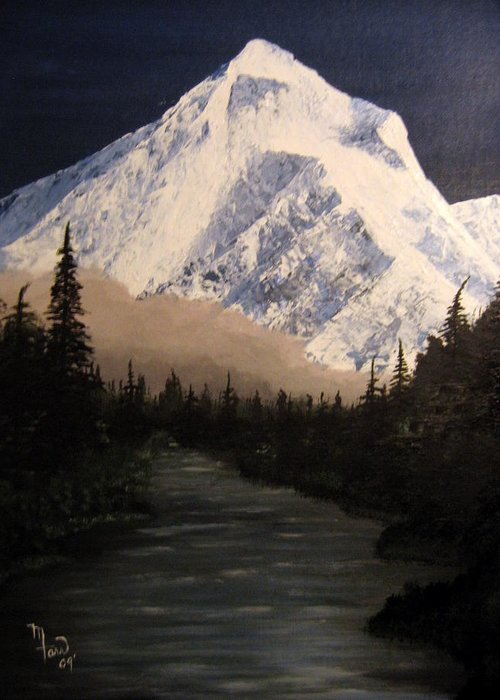 Landscape Greeting Card featuring the painting Mt Hood by Mark Farr