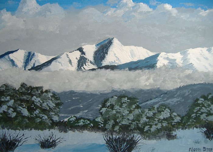 Colorado Greeting Card featuring the painting Mt Princeton Co by Norm Starks