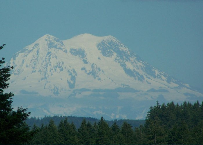 Mount Rainier Greeting Card featuring the photograph Mt Rainier Washington by Laurie Kidd