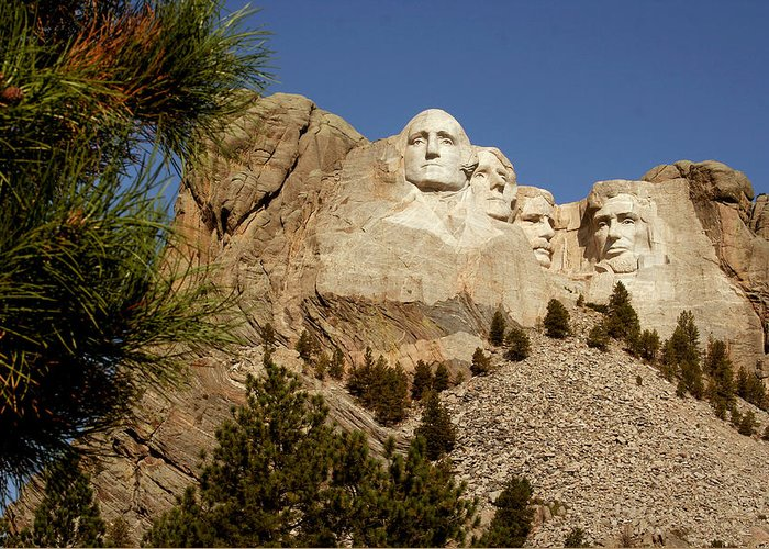 Mount Rushmore Greeting Card featuring the photograph Mt Rushmore II by Mike Oistad