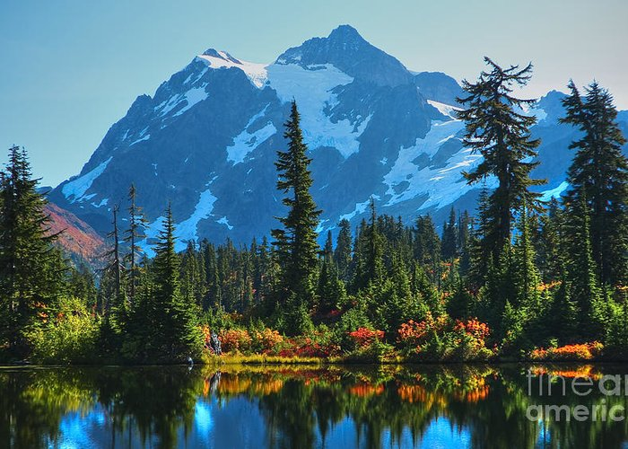 Mt. Shuksan Greeting Card featuring the photograph Mt. Shuksan by Idaho Scenic Images Linda Lantzy