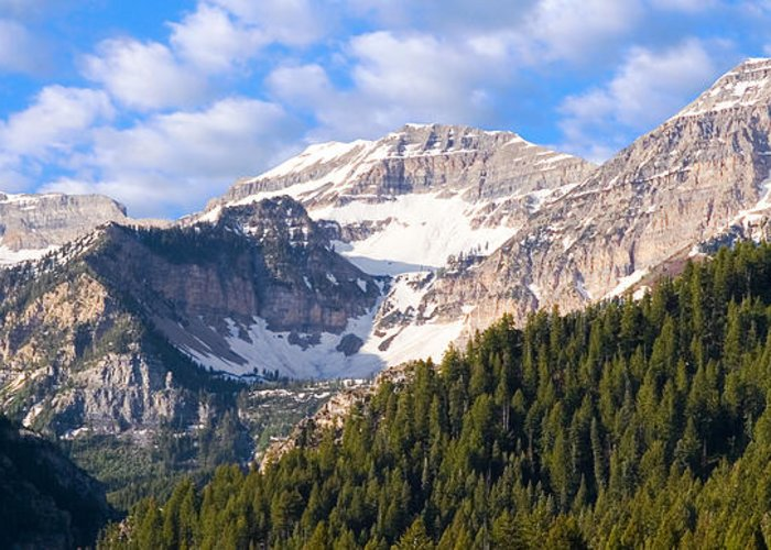 Scenery Greeting Card featuring the photograph Mt. Timpanogos In The Wasatch Mountains Of Utah by Utah Images