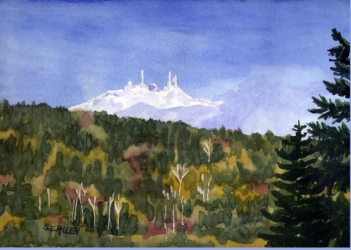 Landscape Greeting Card featuring the painting Almost Mystical by Sharon E Allen