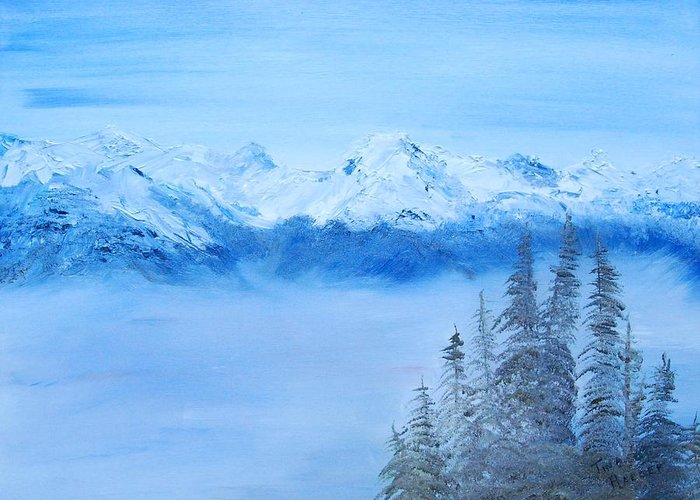 Mt. Whistler Canada Greeting Card featuring the painting Mt. Whistler Canada by Tina Haeger