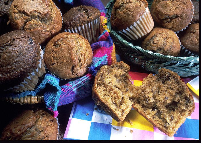 Muffins Greeting Card featuring the photograph Muffins by PhotographyAssociates