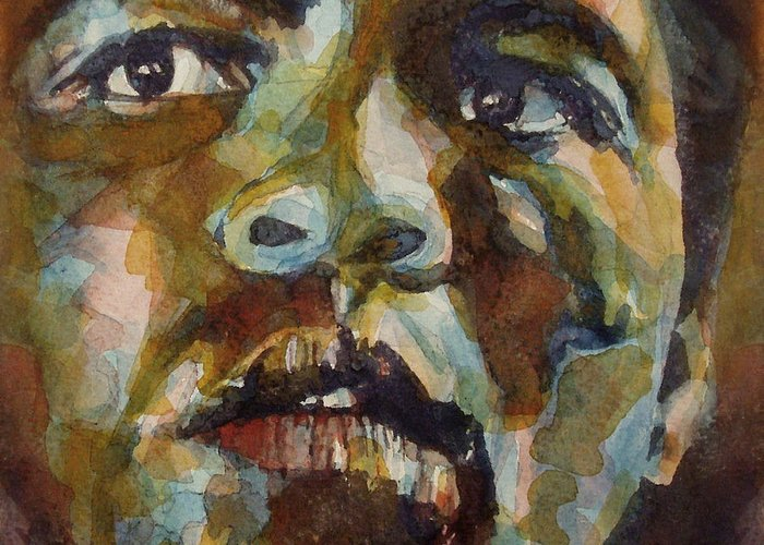 America Greeting Card featuring the painting Muhammad Ali  by Paul Lovering