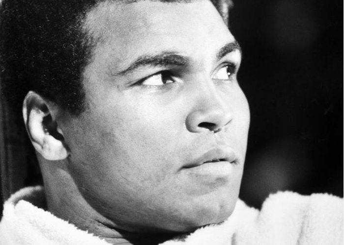 20th Century Greeting Card featuring the photograph Muhammed Ali (b. 1942) by Granger