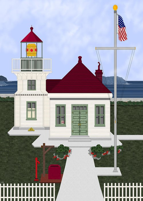 Lighthouse Greeting Card featuring the painting Mukilteo Light by Anne Norskog