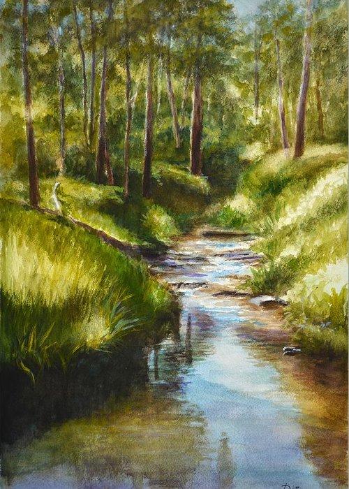 Mullum Mullum Creek On A Sunny Sunday Morning Greeting Card For Sale