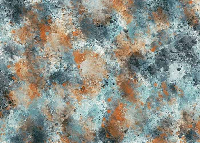 Blues Greeting Card featuring the digital art Multicolor Texture 001 by Di Designs