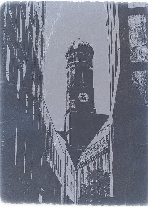 Greeting Card featuring the photograph Munich Frauenkirche by Naxart Studio