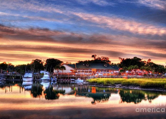Landscapes Greeting Card featuring the photograph Murrells Inlet Sunset 3 by Mel Steinhauer