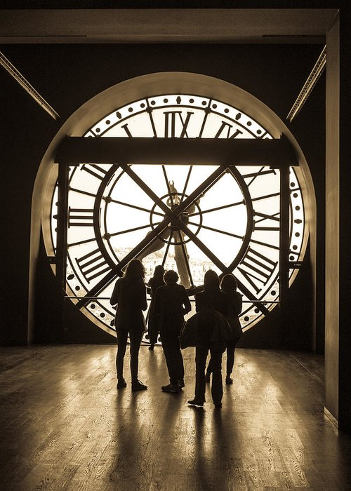 Random Paris Photos Greeting Card featuring the photograph Musee D'orsay Clock by Shaun McDonald