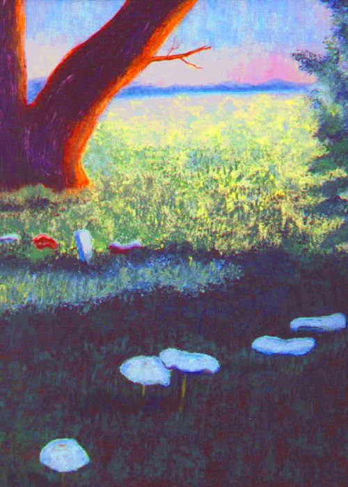 Mushrooms Greeting Card featuring the painting Mushrooms by Stan Hamilton