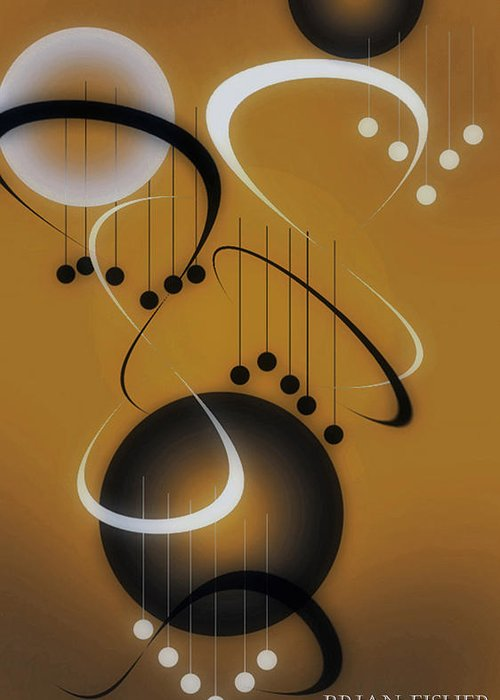 Abstract Greeting Card featuring the digital art Music by Brian Fisher