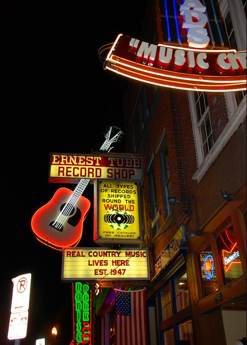 Nashville Greeting Card featuring the photograph Music City Nashville by Susanne Van Hulst