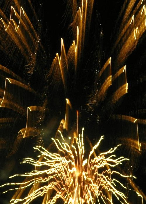Fireworks Greeting Card featuring the photograph Music To My Eyes by Rhonda Barrett