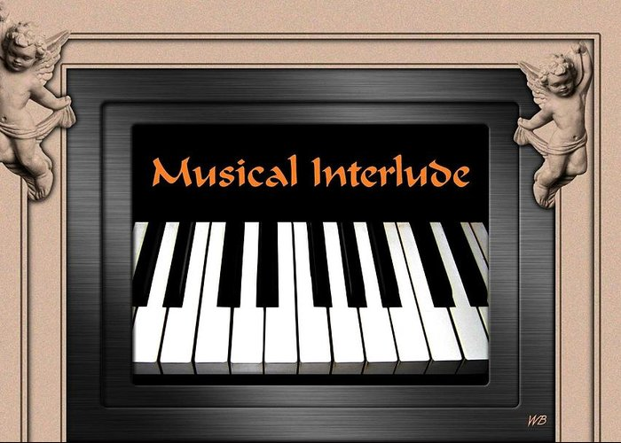 Architecture Greeting Card featuring the digital art Musical Interlude by Will Borden