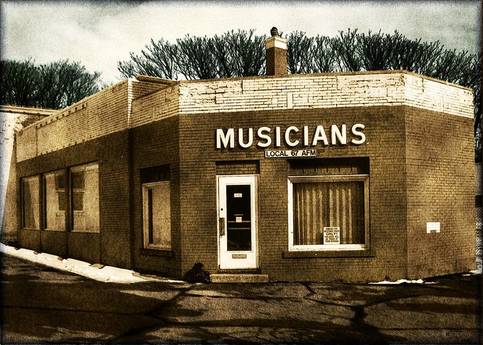 1950s Greeting Card featuring the photograph Musicians Local 67 by Tim Nyberg