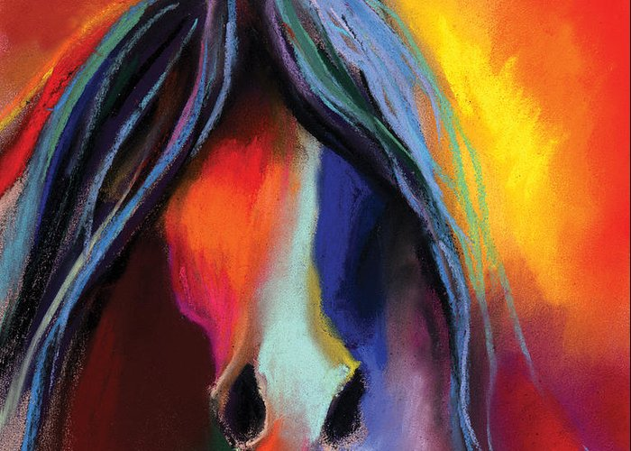Equine Art Pastels Greeting Cards