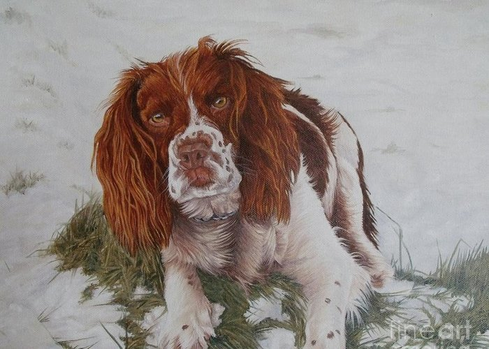 Dog Greeting Card featuring the painting Muttley-the Best Springer Spaniel by Pauline Sharp