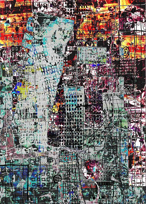 City Greeting Card featuring the digital art Mutually Assured by Andy Mercer