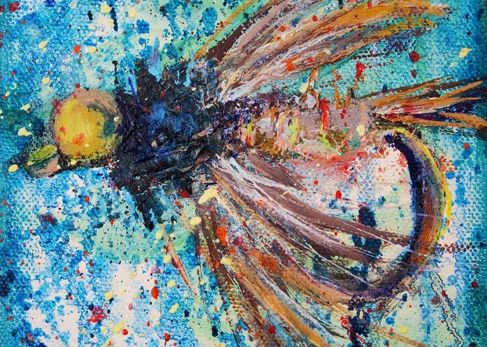 Fly Greeting Card featuring the painting My Choice 1 by Jodi Monahan