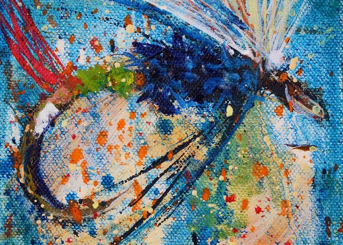Fly Greeting Card featuring the painting My Choice 3 by Jodi Monahan