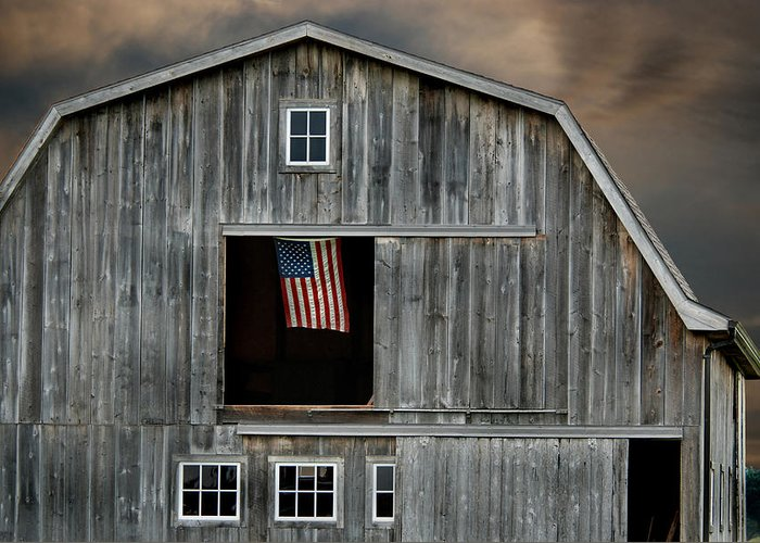 Barn Greeting Card featuring the photograph My Country by Maria Dryfhout