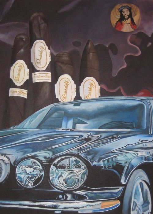 Cars Greeting Card featuring the painting My Desire by David Perales